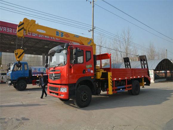 东风特商8吨石煤随车吊带爬梯